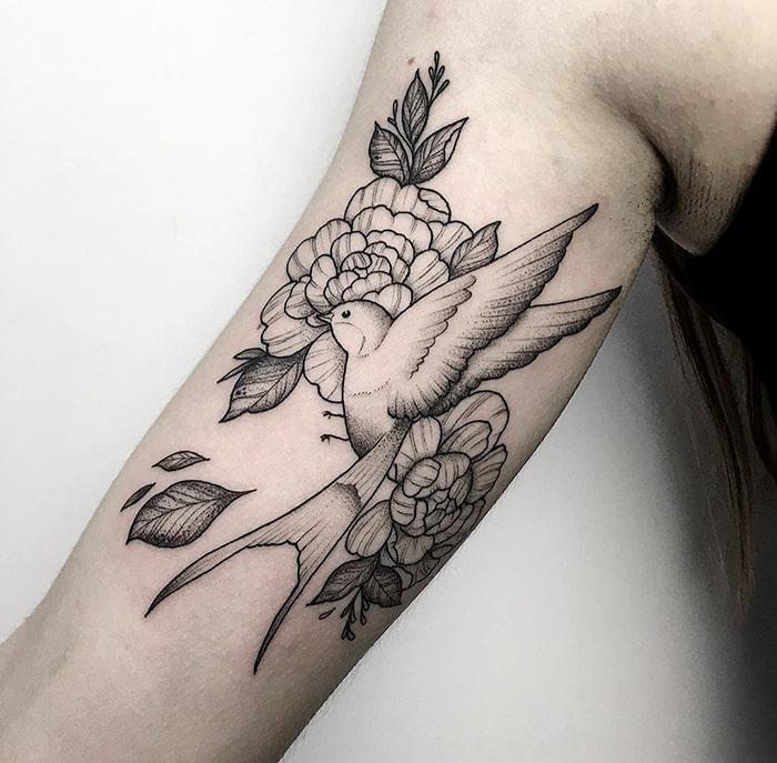 Floral golondrina