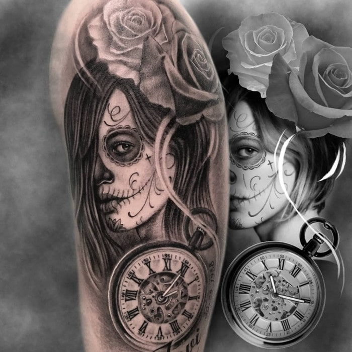 Dia muertos reloj