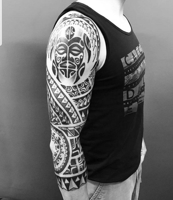 Maorí brazo cara