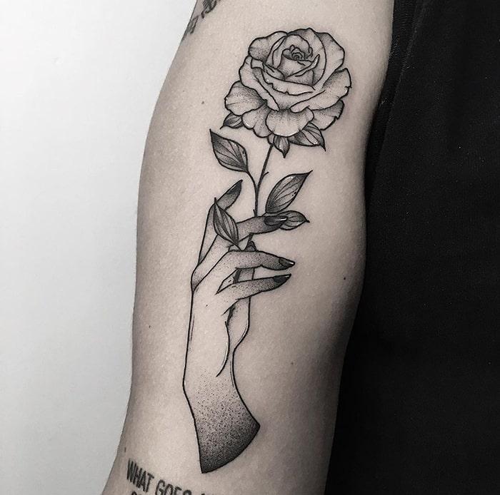 Mano flor