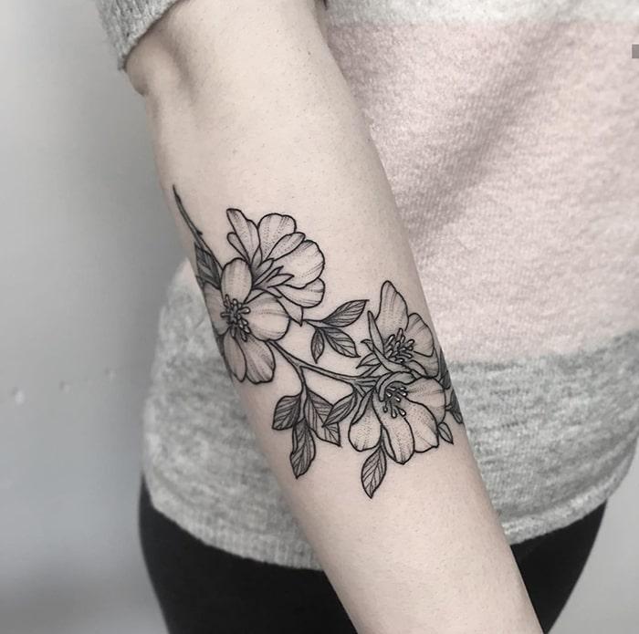 Floral antebrazo