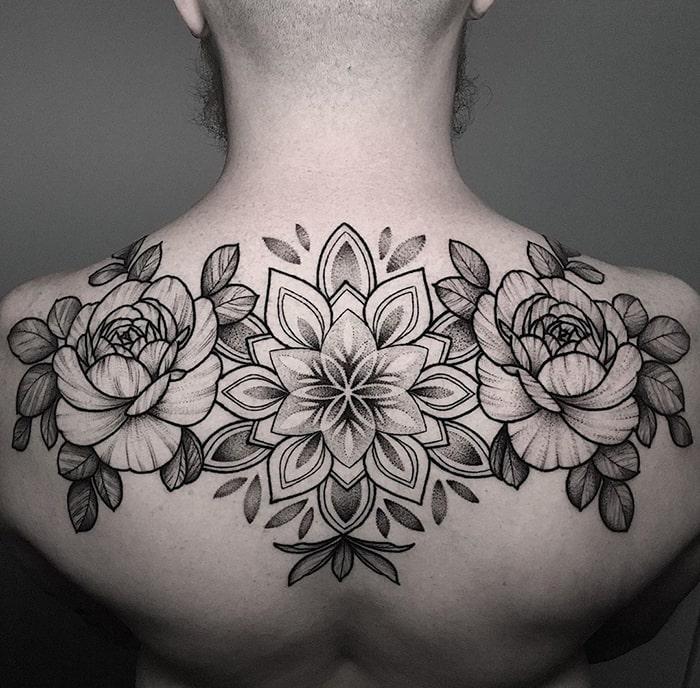 Floral espalda completa