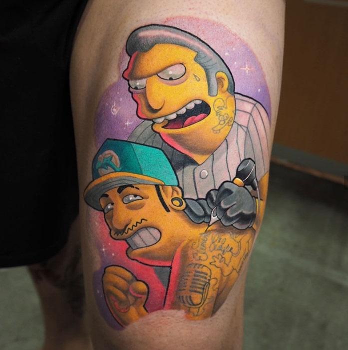 Simpsons tattoo